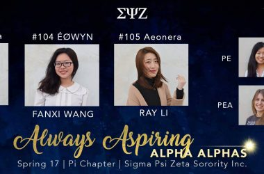 The Always Aspiring Alpha Alpha Class Has Arrived!